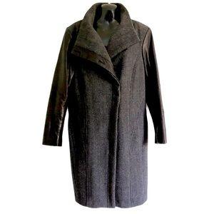 DANIER leather wool winter coat Thinsulate size 12